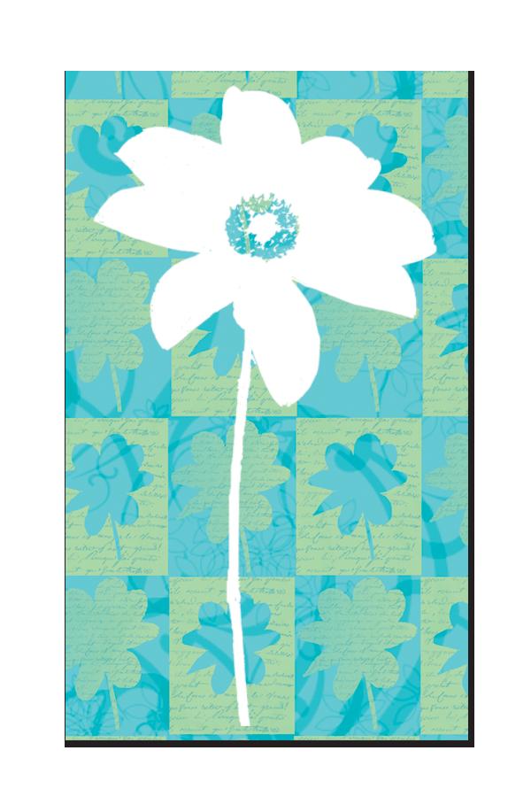 White_Flower_On_Plaid